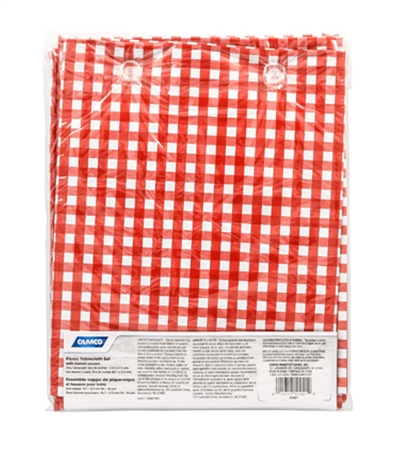 Red & White Tablecloth