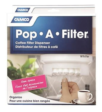 Camco RV Pop-A-Filter - White
