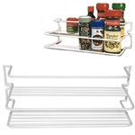 AP Products Double Spice Rack - White