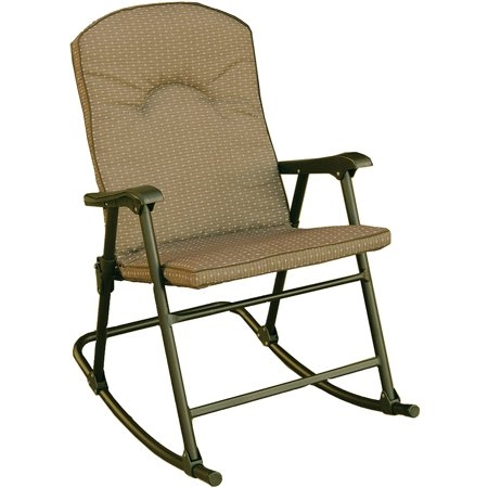 Prime Products 13-6805 Cambria Padded Rocker Chair - Desert Taupe