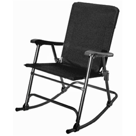 Prime Products 13-6509 Elite Folding Rocking Chair - Black