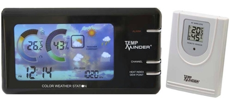 Minder Research TempMinder Weather Station with Wireless Remote/Power Adapter