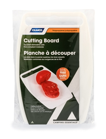 Camco 51300 Plastic Cutting Board - White