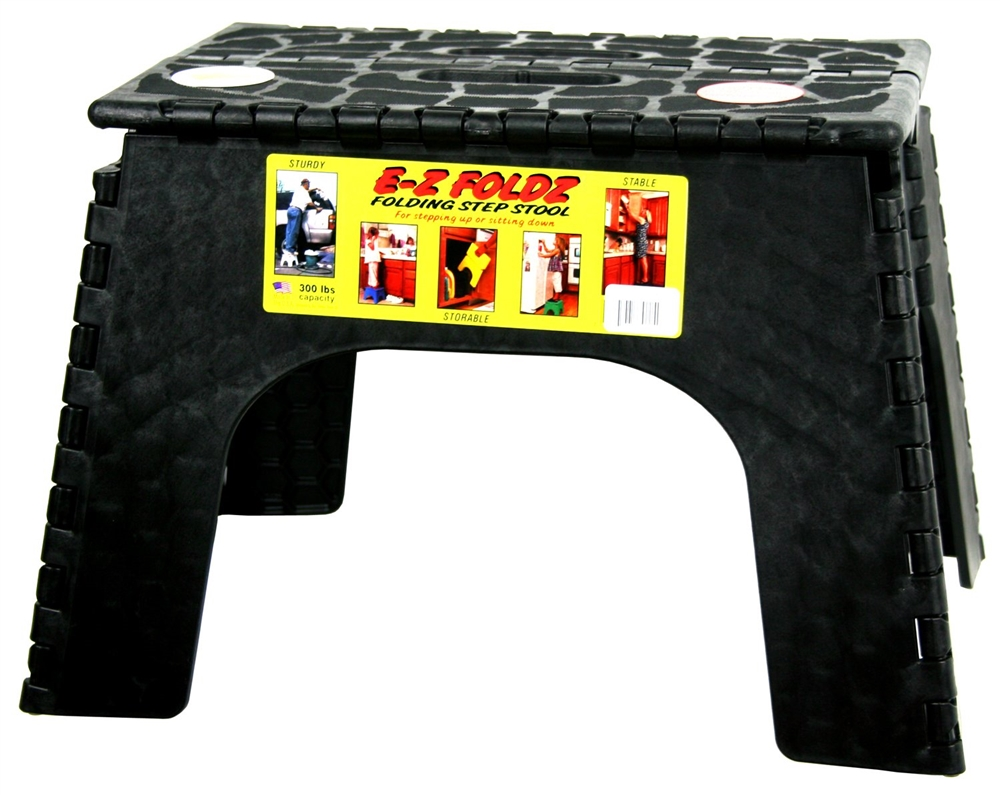 Excellent Br Plastics 103 6Bk E Z Foldz Black Step Stool 12 Squirreltailoven Fun Painted Chair Ideas Images Squirreltailovenorg