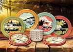 Camp Casual CC-001 Melamine RV Dish Set - 12 Piece