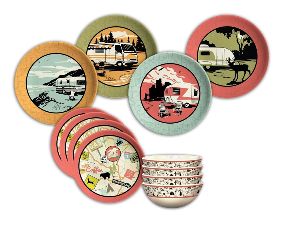 camp casual cc001 melamine rv dish - Melamine Dishes
