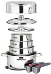 Magma A10-360L-IND 10-Piece Gourmet Nesting Induction Cookware Set