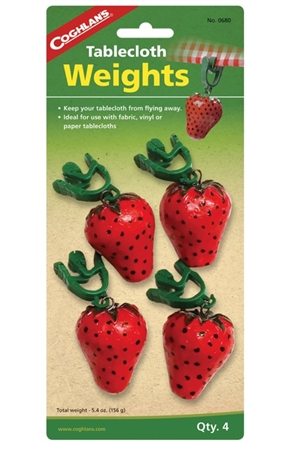 Coghlan's 0680 Picnic Tablecloth Weights - Strawberry Set