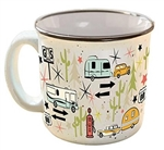 Camp Casual CC-004C Wanderlust White Travel Mug