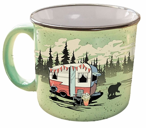 Camp Casual CC-004G Beary Green Travel Mug