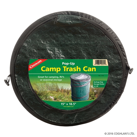 Coghlan's 1713 Portable Mini Pop-Up Camp Trash Bin - Black