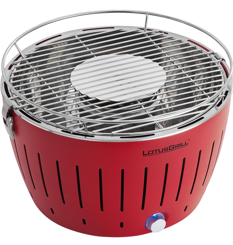 lotus grill g340 smokeless charcoal rv grill red
