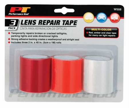 Performance Tool W508 Lens Repair Tape - 3 Pack