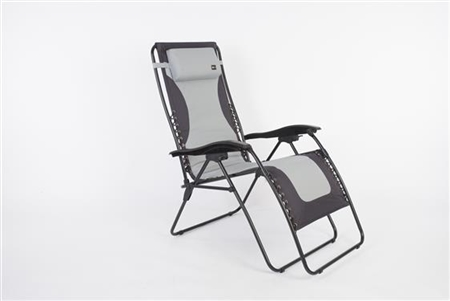 Faulkner 52293 Laguna Style Gray/Black Outdoor Recliner XL