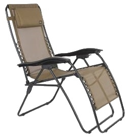 Faulkner 52300 Malibu Tan Mesh Recliner Chair XL