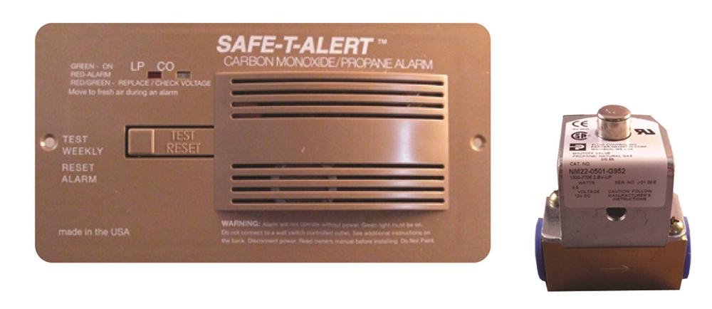 Dual Propane//lp And Carbon Monoxide Alarm safetalert 70-742-wt W New 70 Series