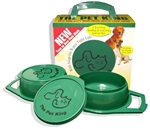 Pet King PK-G Portable Food And Water Bowl With Snap-On Lids - Large - 32 Oz