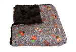 "Camp Casual CC-005CCG The Throw Picnic Blanket 50"" x 60"" - Gray Cozy Critters"