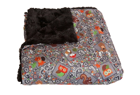 "CC-005CCG The Throw Picnic Blanket 50"" x 60"" - Gray Cozy Critters"