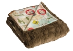 "Camp Casual CC-005TM The Throw Camping Blanket 50"" x 60"" - Travel Map"
