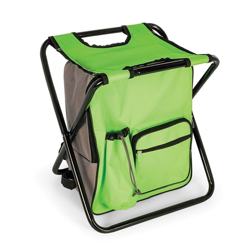 Camco 51909 Camping Stool Backpack Cooler - Green