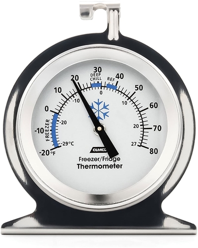 Camco 42114 Refrigerator/Freezer Analog Thermometer