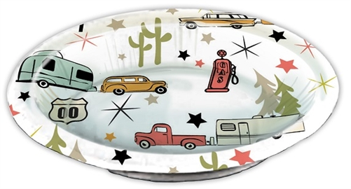 Camp Casual CC-007RB Road Trip Vintage RV Serving Bowls - 20 Ounce - 24 Piece
