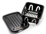 Camco 43512 RV Mini Dish Drainer and Tray - Black