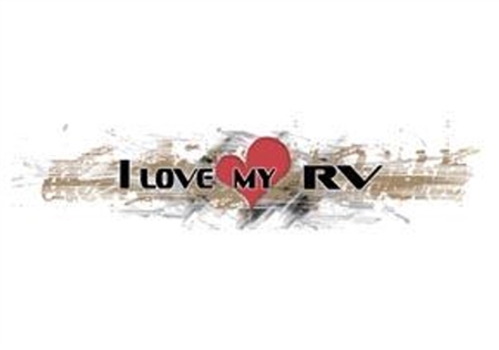 Illusion Inc. Love My RV Decal