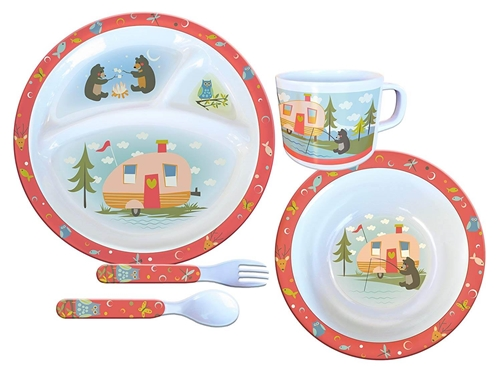 Camp Casual Child Melamine Camping Dish Set - 5/PC