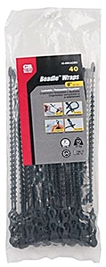 "Marinco 40pk 8"" Beadle Wrap - Black"