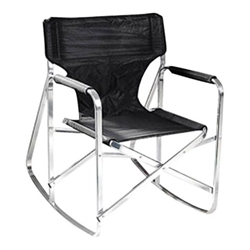 Stylish Camping SL1205BLK Rocking Director's Chair – Black