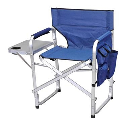 Ming's Mark SL1204-BLUE Blue Folding Director's Chair