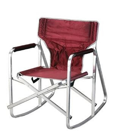 Ming's Mark SL1205-BURGUNDY Rocking Director's Chair
