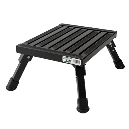 Safety Step S-07C-BLK Small Folding Step Stool - Black - 7""