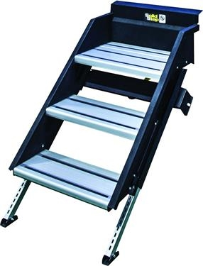 "Lippert 678044 SolidStep Fold-Down RV Triple Steps - 30"" Width"