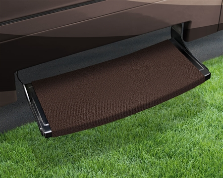 "Prest-O-Fit Outrigger Radius 22"" RV Step Cover - Chocolate Brown"