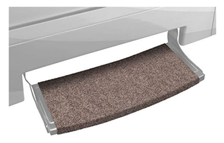 Prest-O Fit Outrigger 20381 Wraparound Radius XT RV Step Rug  - Walnut Brown - 22""