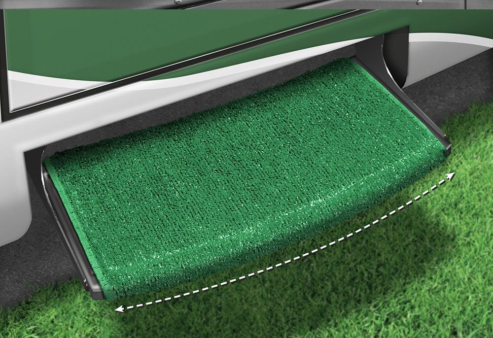 Green Prest-O-Fit 2-0200 Wraparound+Plus Radius Step Rug 22