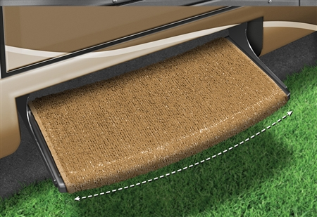 2-0202 Wraparound Radius RV Step Rug - Harvest Gold