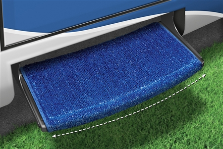 2-0204 Wraparound Radius RV Step Rug - Imperial Blue