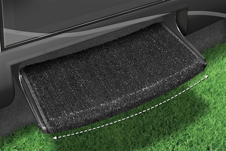 2-0205 Wraparound Radius RV Step Rug - Black