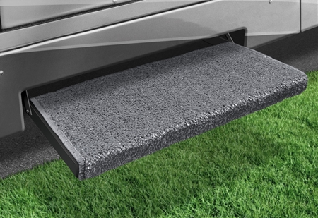2-0053 Jumbo Wraparound Plus RV Step Rug - Stone Gray