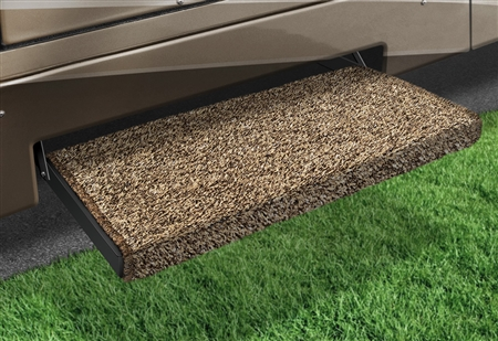 2-0051 Jumbo Wraparound Plus RV Step Rug - Brown