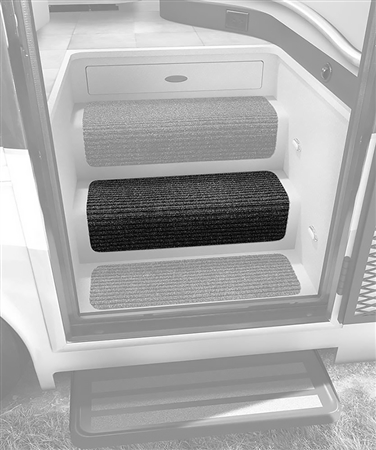 "Prest-o-Fit 5-0070 23"" Step Hugger for RV Stair Steps - Black Granite"