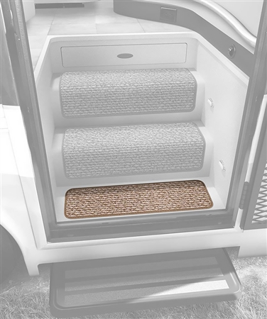"Prest-O-Fit Butter Pecan Step Hugger for RV Landing Steps - 23 1/2"" x 6"""