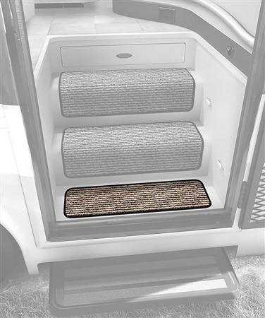 "Prest-o-Fit 5-1093 23"" Step Huggers for Landing Steps - Peppercorn"