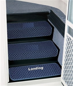 "Prest-o-Fit 5-3082 23"" Step Huggers for Landing Steps  - Ocean Blue"