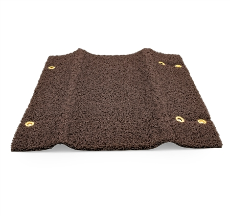 "Camco Wrap Around 18"" RV Step Rug - Brown"