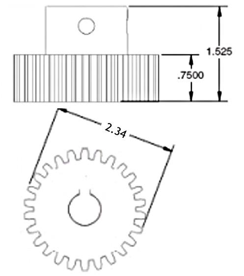 Lippert 014-116658 Crown Gear For Slide-Out Mechanisms